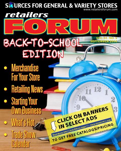 Retailers Forum Sept. 2014 Sept 2014