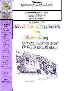 2011 DECEMBER NEWSLETTER