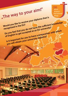 "CBS- Central European International College ""The Way to Your Aim"""