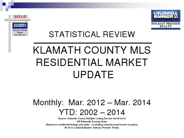 Statistics March 2014
