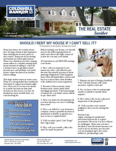 The Real Estate Insider July 2014