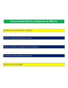 Evidencia II Arquitectura de software Vol.1