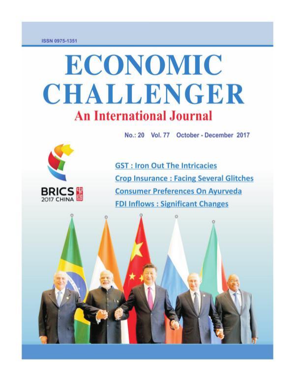 Economic Challenger Issue 77 Oct-Dec 2017