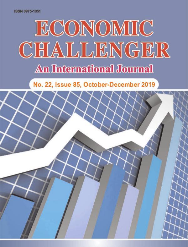 Economic Challenger Issue 85 Oct to Dec 2019
