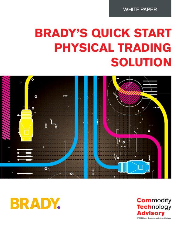 White Papers Brady's Quick Start Physical Trading Solution