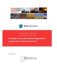 Research European Commodity Market Regulations - Part 1