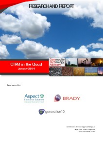 Research ETRM / CTRM in the Cloud