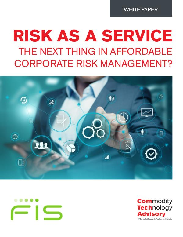 White Papers Risk as a Service – The Next Thing in Affordable C