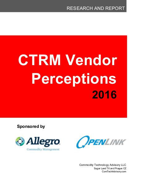 2016 Vendor Perception Report