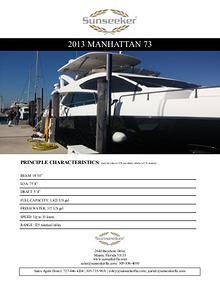 2013 Sunseeker Manhattan 73 For Sale