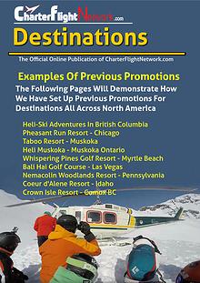 Charter Flight Network - Destinations