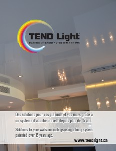 Tendlight walls & ceilings