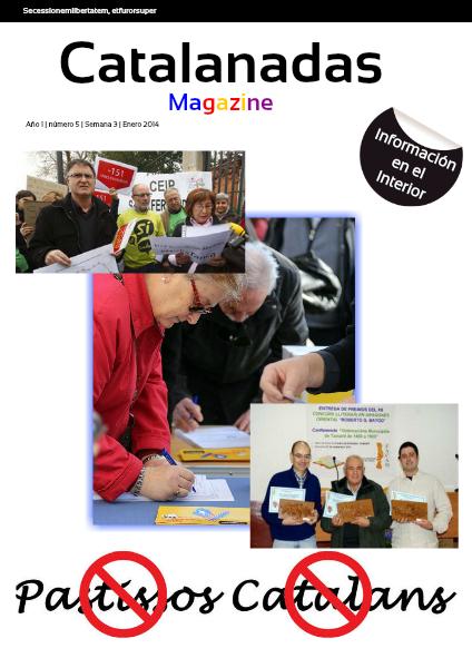 Catalanadas Magazine Nº 5 Semana 3 Enero 2014