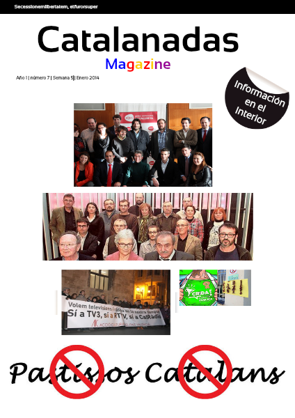 Catalanadas Magazine Nº 7 Semana 5 Enero 2014