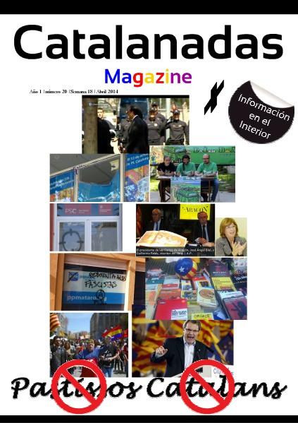 Catalanadas Magazine Nº 20 Semana 18 Abril 2014