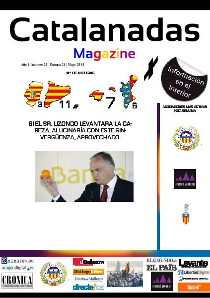 Catalanadas Magazine Nº 23 Semana 21 Mayo 2014