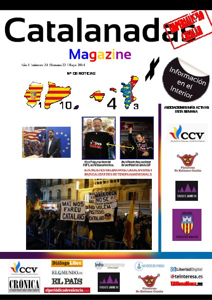 Catalanadas Magazine Nº 24 Semana 22 Mayo 2014