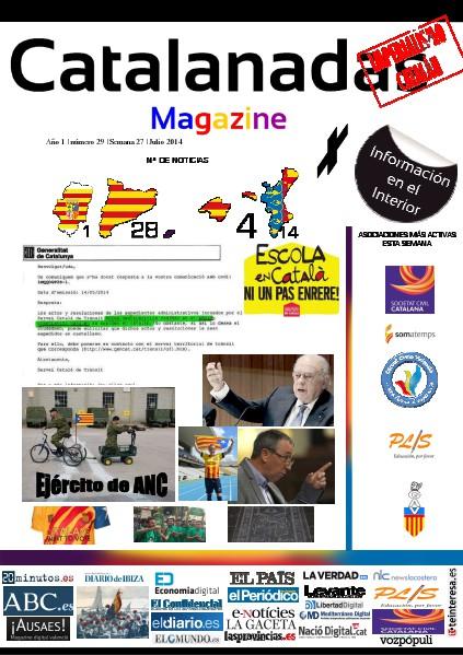 Catalanadas Magazine Nº 29 Semana 27 Junio 2014