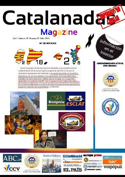 Catalanadas Magazine Nº 30 Semana 28 Julio 2014