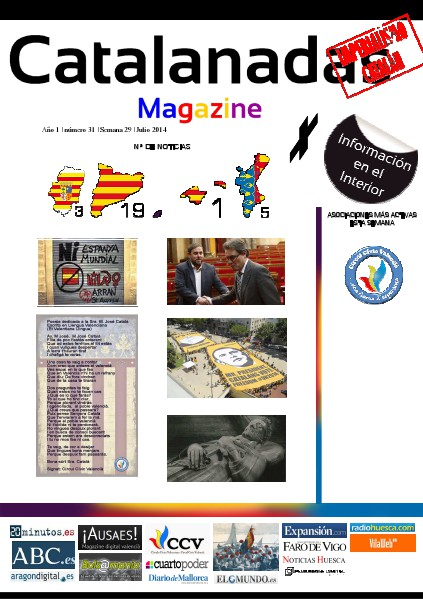 Catalanadas Magazine Nº 31 Semana 29 Julio 2014