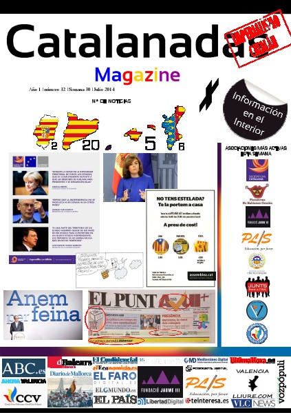 Catalanadas Magazine Nº 32 Semana 30 Julio 2014