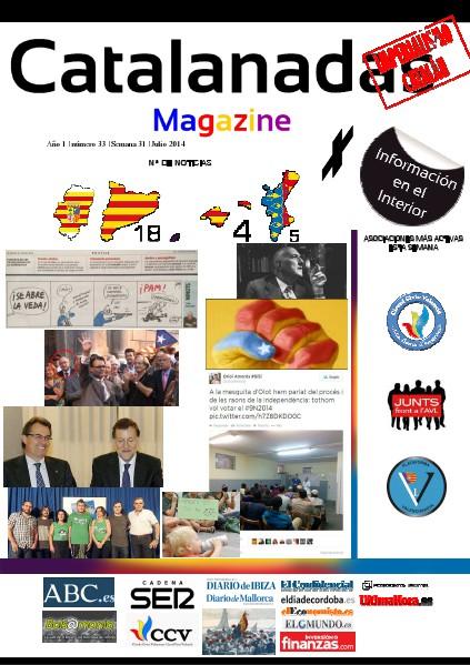 Catalanadas Magazine Nº 33 Semana 31 Julio 2014