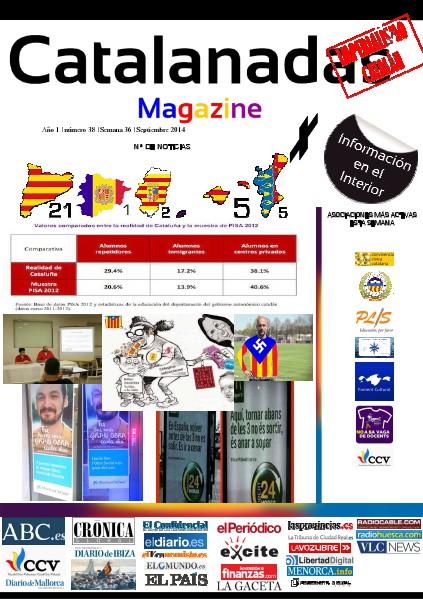 Catalanadas Magazine Nº 38 Semana 36 Septiembre 2014