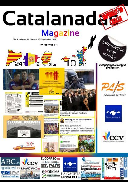 Catalanadas Magazine Nº 39 Semana 37 Septiembre 2014