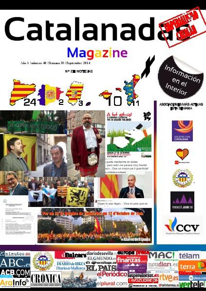 Catalanadas Magazine Nº 40 Semana 38 Septiembre 2014