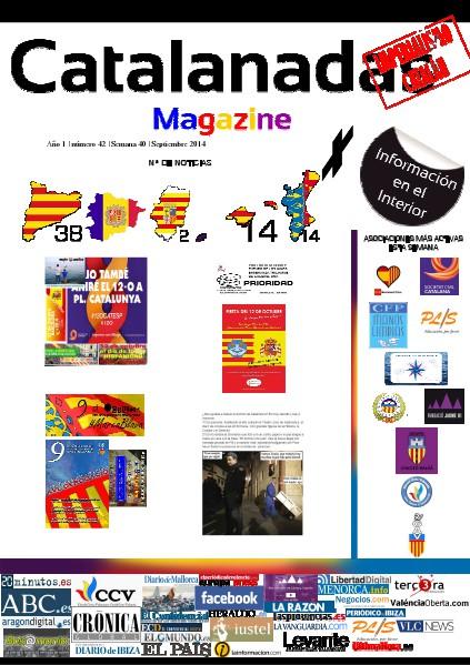 Catalanadas Magazine Nº 42 Semana 40 Septiembre 2014