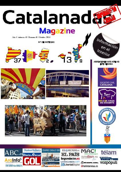 Catalanadas Magazine Nº 43 Semana 41 Octubre 2014