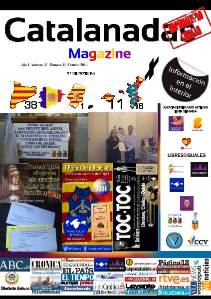 Catalanadas Magazine Nº 47 Semana 45 Noviembre2014