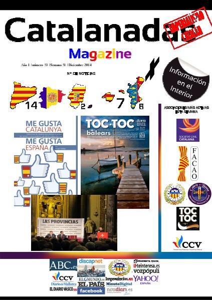 Catalanadas Magazine Nº 53 Semana 51 Diciembre 2014