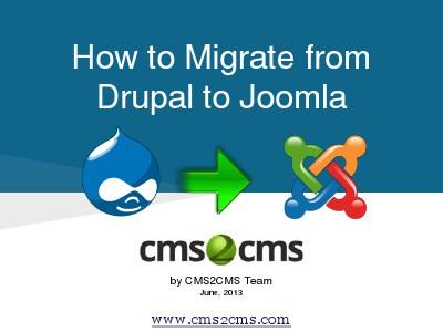 How to Migrate to Joomla in 15 Mins How to Migrate Drupal to Joomla