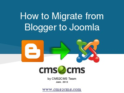 How to Migrate to Joomla in 15 Mins How to Migrate Blogger to Joomla