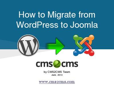 How to Migrate to Joomla in 15 Mins How to Migrate WordPress to Joomla