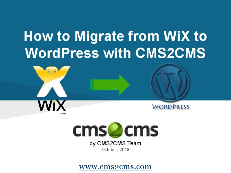 How to Migrate to WordPress with CMS2CMS Migrate Wix to WordPress with Ease