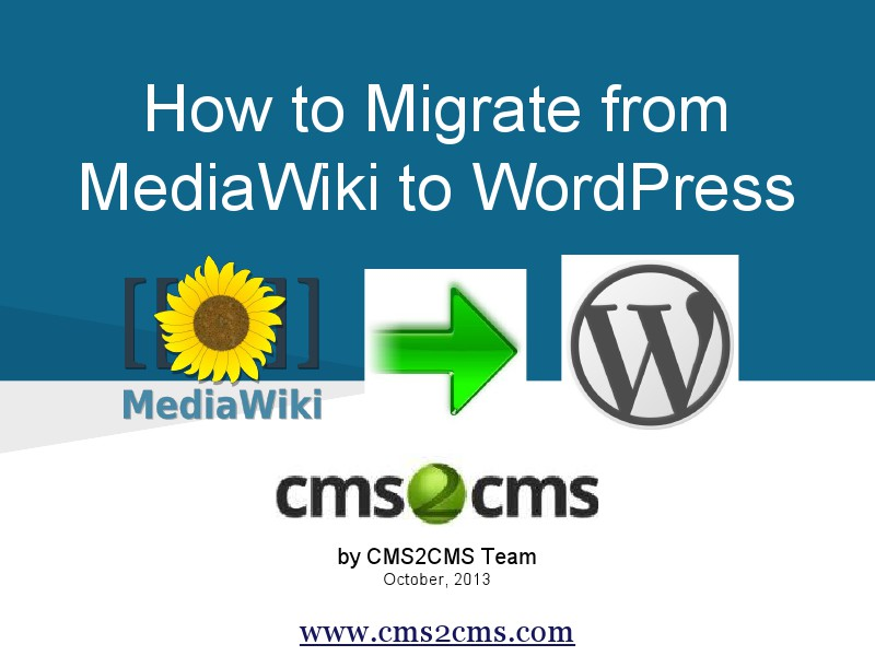 How to Migrate to WordPress with CMS2CMS Move MediaWiki to WordPress,