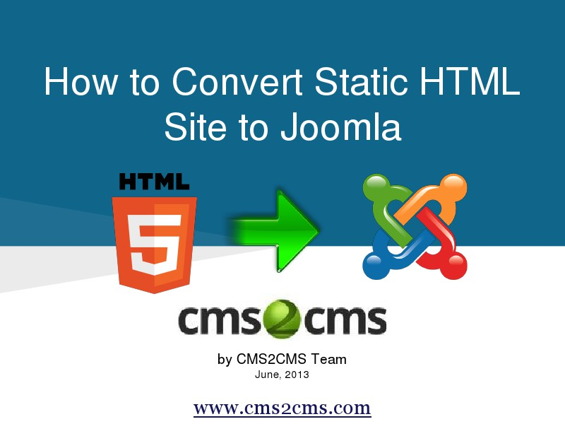 How to Migrate to Joomla in 15 Mins Convert your HTML Content to Joomla