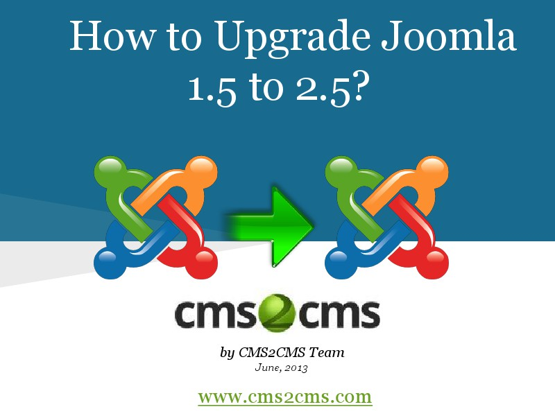 How to Migrate to Joomla in 15 Mins How to Upgrade Joomla 1.5 to 2.5