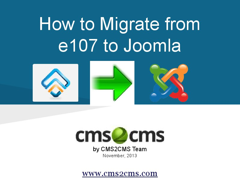 How to Migrate to Joomla in 15 Mins How to Migrate from e107 to Joomla