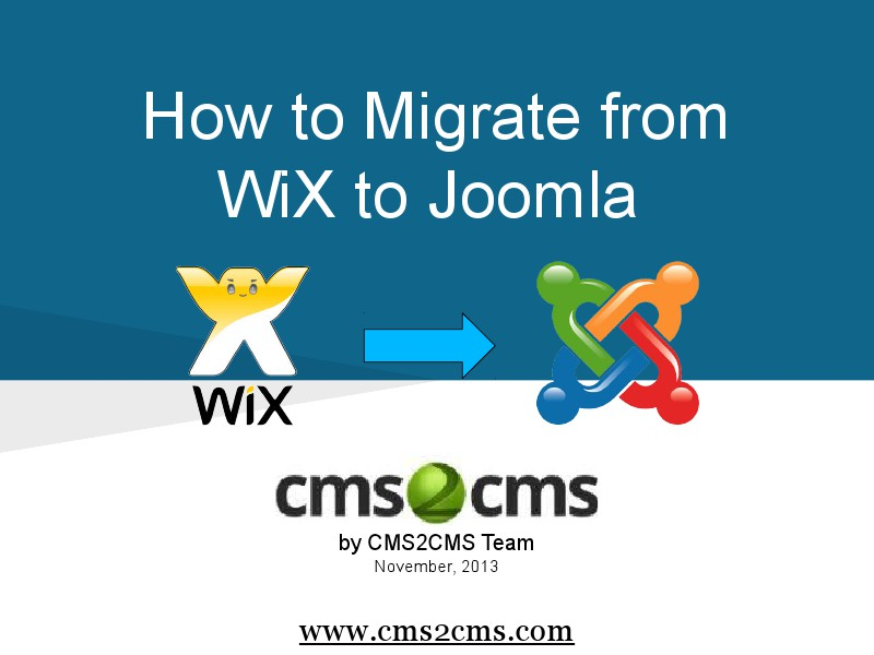 How to Migrate to Joomla in 15 Mins How to Migrate from WiX to Joomla Effortlessly