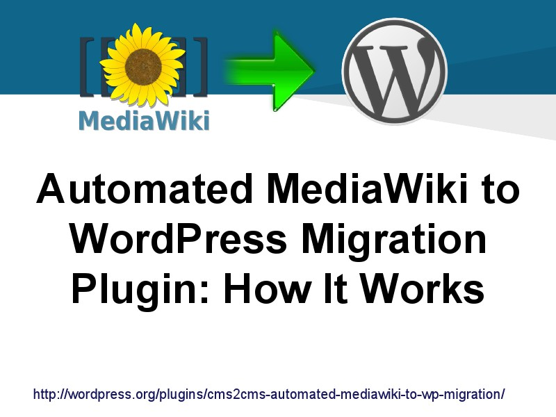 CMS2CMS Migration Plugins: Why and How MediaWiki to WordPress Plugin