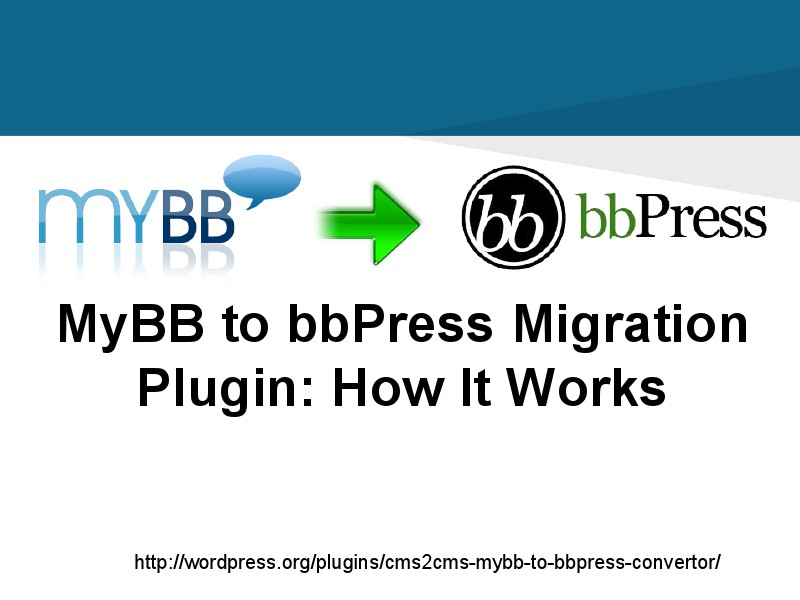 myBB to bbPress Migration