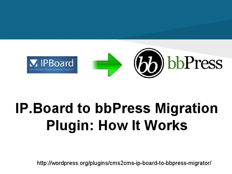 CMS2CMS Migration Plugins: Why and How IP Board to bbPress Migrator