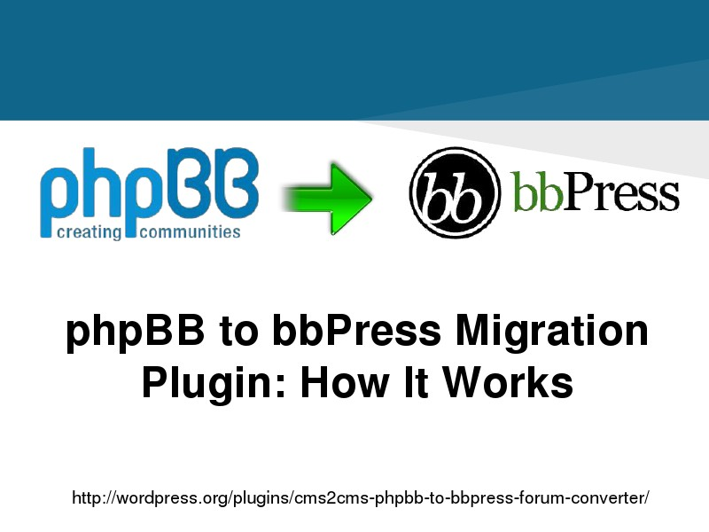 Swift phpBB to bbPress Transfer