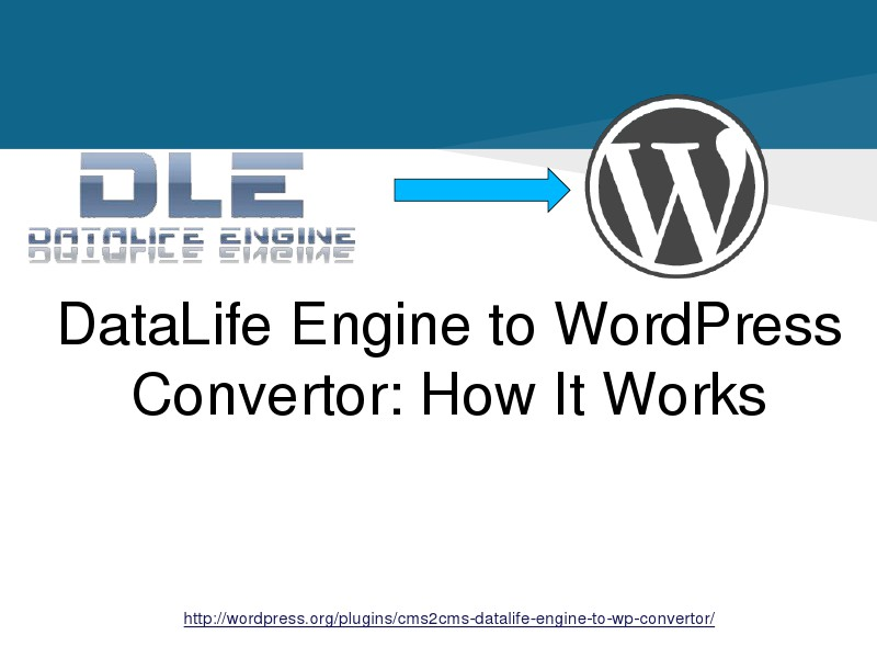 DataLife Engine to WordPress.