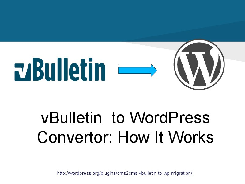 vBulletin to bbPress Switch