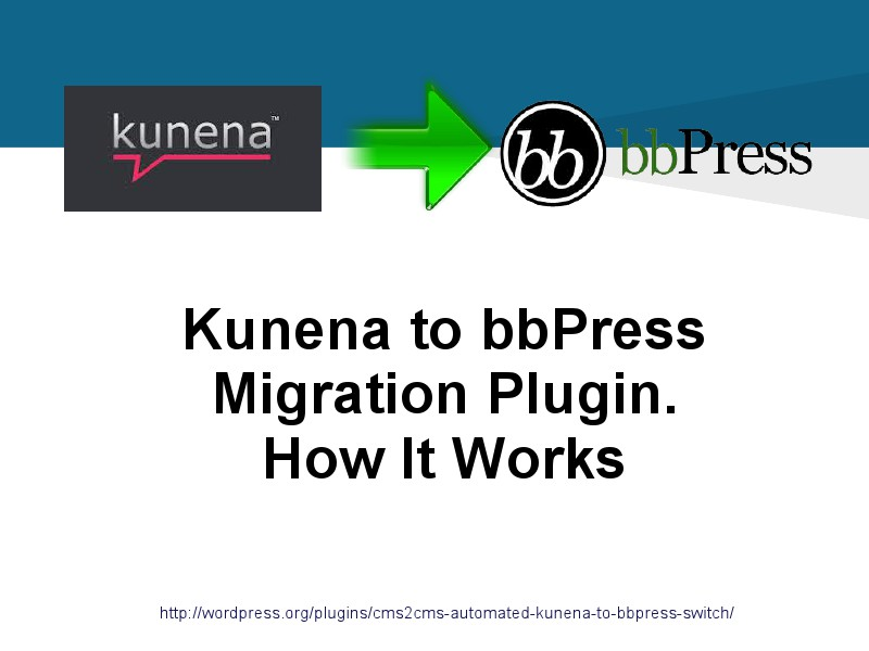Kunena to bbPress Migration