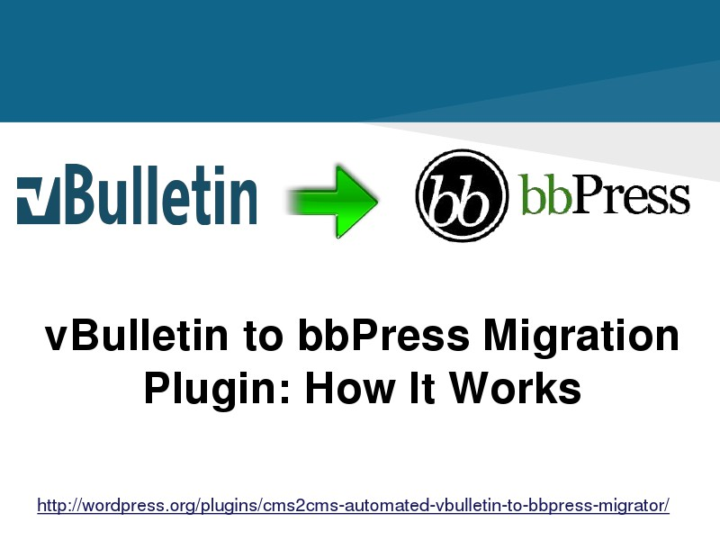 vBulletin to bbPress Migration Plugin